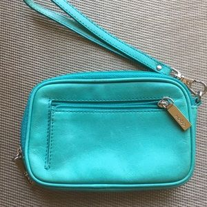 Turquoise Hobo Brand Wristlet